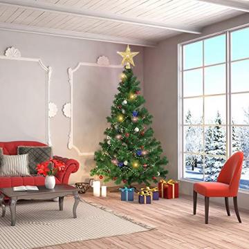 sdgfd Weihnachtsbaumspitze, Weihnachtsbaum Christbaumspitze Stern–Gold Glitzer Metall Baum Stern Großartiges Design - 5