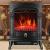 SEESEE.U Elektroherd 2000 W realistische 3D-Flammeneffekt Sicherheit tat Kamin Heizung Holzflammeneffekt dreiseitige Glas freistehende Kamine Monochrome Flamme - 4