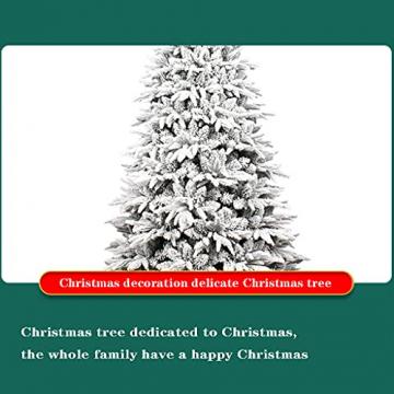 shelf Weihnachtsbaum, 180 cm, schneebeflockt, schön gearbeitet, beflockt, künstlicher Baum, saisonale Innendekoration, perfekter Urlaub beflockter Schnee Weihnachtsbaum - 3