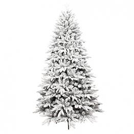 shelf Weihnachtsbaum, 180 cm, schneebeflockt, schön gearbeitet, beflockt, künstlicher Baum, saisonale Innendekoration, perfekter Urlaub beflockter Schnee Weihnachtsbaum - 1
