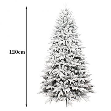 shelf Weihnachtsbaum, 180 cm, schneebeflockt, schön gearbeitet, beflockt, künstlicher Baum, saisonale Innendekoration, perfekter Urlaub beflockter Schnee Weihnachtsbaum - 7