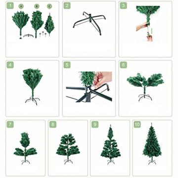 shelf Weihnachtsbaum, 180 cm, schneebeflockt, schön gearbeitet, beflockt, künstlicher Baum, saisonale Innendekoration, perfekter Urlaub beflockter Schnee Weihnachtsbaum - 8