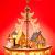 Sikora P33 LED Holz Weihnachtspyramide mit elektrischem Antrieb und Beleuchtung, Farbe/Modell:Motiv Laterne Schneemann Kind Häuser - 1