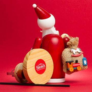 Sikora RM-A Räuchermännchen aus Holz 3 Größen Verschiedene Motive, Farbe/Modell:A01 rot - Weihnachtsmann, Größe:Höhe ca. 15 cm - 3
