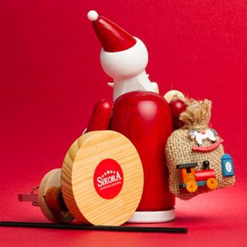 Sikora RM-A Räuchermännchen aus Holz 3 Größen Verschiedene Motive, Farbe/Modell:A01 rot - Weihnachtsmann, Größe:Höhe ca. 15 cm - 4