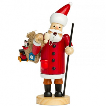 Sikora RM-A Räuchermännchen aus Holz 3 Größen Verschiedene Motive, Farbe/Modell:A01 rot - Weihnachtsmann, Größe:Höhe ca. 15 cm - 1
