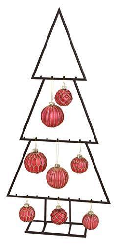 Spetebo Metall Tannenbaum für Zierschmuck - 77 cm - Deko Weihnachtsbaum Tanne schwarz Design Baum für Christbaumkugeln - 1