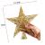 SpringPear® 15 cm Golden Weihnachtsbaumspitze Glitzernd Stern aus Metall Weihnachtsbaum Glitzer Topper Party Dekoration - 2