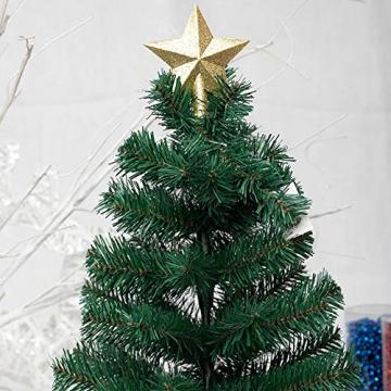 Sqxaldm Christbaumspitze Stern Verzierung Weihnachtsbaum Stern Baumspitze Kunststoff Stern Deko Christbaumspitze Glitzer Stern Weihnachtsbaum Topper Christbaumspitze Stern Weihnachtsbaum (2 Stücke) - 6