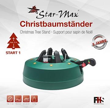 Star-Max Modell 2018 Christbaumständer by F-H-S, Model Start 1, für Baumhöhe bis 2,0 m, Weihnachtsbaumständer mit Fuhebelfunktion und Einseiltechnik, 2,0 Liter Wassertank, 2 liters, Grün - 2