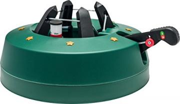 Star-Max Modell 2018 Christbaumständer by F-H-S, Model Start 1, für Baumhöhe bis 2,0 m, Weihnachtsbaumständer mit Fuhebelfunktion und Einseiltechnik, 2,0 Liter Wassertank, 2 liters, Grün - 1