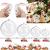 STCRERAG 25 Set Acrylkugel Befüllbar Weihnachtskugeln Kunststoff mit Loch Weihnachtsbaumkugeln Teilbar Bastelkugeln 4/6/8/10 cm Christbaumkugeln Kugel Dekokugel Transparent für Weihnachten Deko - 2