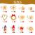 Strohsterne Weihnachtsbaum, 52 Stück Weihnachtlicher Baumschmuck Stroh Anhänger Strohstern, Christbaum Schmuck Strohanhänger natürlicher Christbaumanhänger Weihnachtsdeko - 2