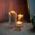 Sziqiqi 1-Set (3-teilig) hochwertige Kristall Glas Kerzenständer Kristalle Kerzenständer für Romantisches Abendessen kreative Kerzenständer Hochzeit Haus Deko Esstisch und Bar, Platz - 2