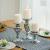 Sziqiqi 3er Set Kerzenleuchter Kerzenständer Schwarz Vintage Kerzenhalter Windlichthalter aus Metall Kerzenhalter für Stumpenkerzen, Kerzenständer Dekoration für Hochzeit Party, Silber - 2