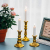 Sziqiqi Kerzenständer Kerzenhalter Kerzenleuchter in Gold für Schabbat Kerzen 3er Set, Metall Deko Kerzenständer, Vintage Kerzen Ständer Tischdeko für Hochzeit Wohnzimmer Tabelle Schabbat, S+M+L - 3