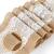 TAOCOCO Jute Tischläufer 5 Stück Rustic Burlap Spitze Hessischen Rustikale Land für Hochzeit Festival-Ereignis Tischdekoration 30 x 275cm - 3