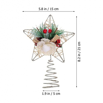 TENDYCOCO Weihnachten Baum Topper Kreative Sterne Baumkrone für Weihnachten Baum Hause Hochzeit Party Decor - 2