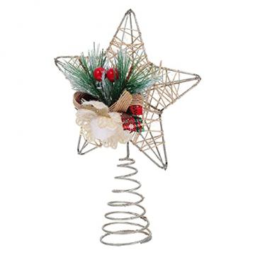 TENDYCOCO Weihnachten Baum Topper Kreative Sterne Baumkrone für Weihnachten Baum Hause Hochzeit Party Decor - 1
