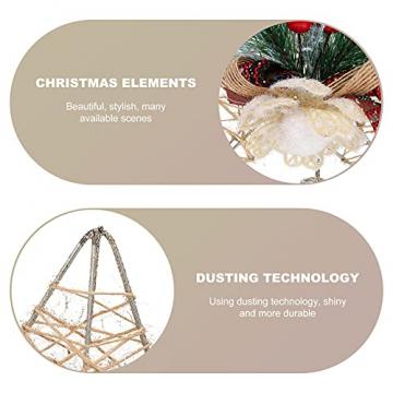 TENDYCOCO Weihnachten Baum Topper Kreative Sterne Baumkrone für Weihnachten Baum Hause Hochzeit Party Decor - 5