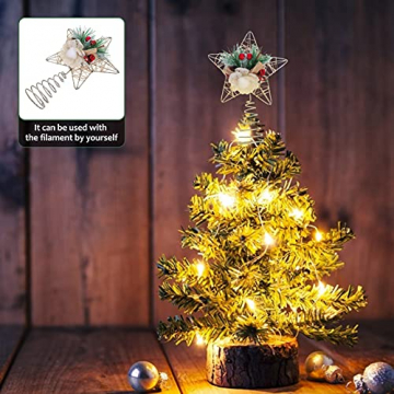 TENDYCOCO Weihnachten Baum Topper Kreative Sterne Baumkrone für Weihnachten Baum Hause Hochzeit Party Decor - 6
