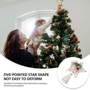 TENDYCOCO Weihnachten Baum Topper Kreative Sterne Baumkrone für Weihnachten Baum Hause Hochzeit Party Decor - 7