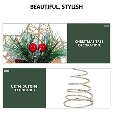 TENDYCOCO Weihnachten Baum Topper Kreative Sterne Baumkrone für Weihnachten Baum Hause Hochzeit Party Decor - 8