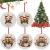TianWlio Runden Anhänger Holz Elchdruck Weihnachten Deko,Holz Christbaumschmuck Weihnachtsbasteln Weihnachtsbaum Anhänger Weihnachtsdeko zum Aufhängen - 3