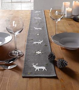 """Tischband """"Winter"""", grau - 1"""