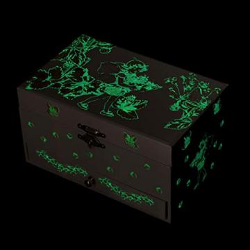 Trousselier - Blumenfeen - Flower Fairies - Musikschmuckdose - Spieluhr - Ideales Geschenk für junge Mädchen - Phosphoreszierend - Leuchtet im Dunkeln - Musik Mozarts Zauberflöte - Farbe grün - 4