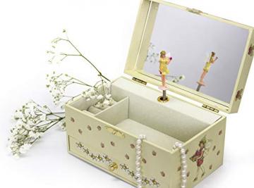 Trousselier - Blumenfeen - Flower Fairies - Musikschmuckdose - Spieluhr - Ideales Geschenk für junge Mädchen - Phosphoreszierend - Leuchtet im Dunkeln - Musik Mozarts Zauberflöte - Farbe grün - 5