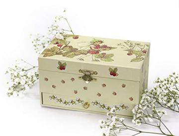 Trousselier - Blumenfeen - Flower Fairies - Musikschmuckdose - Spieluhr - Ideales Geschenk für junge Mädchen - Phosphoreszierend - Leuchtet im Dunkeln - Musik Mozarts Zauberflöte - Farbe grün - 6
