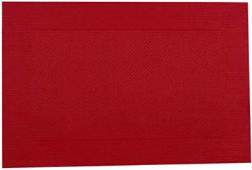 U'Artlines 6er Set Platzsets Hitzebeständigen Waschbaren Vinyl Tischsets 30 * 45cm (6er Platzsets, Rot) - 7
