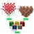 Ulikey 35 Stück Künstlicher Weihnachtsbaum, Mini Grün Tannenbaum Sisal Weihnachtsbaum Modell Bäume Schneetannen Weihnachten Miniatur Deko mit Tannenzapfen für Tischdeko, DIY, Schaufenster - 3