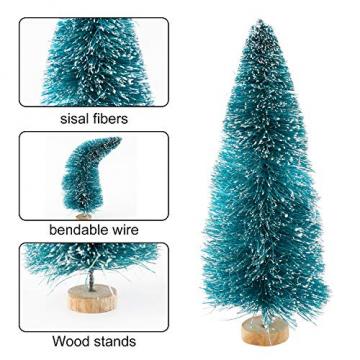 Ulikey 35 Stück Künstlicher Weihnachtsbaum, Mini Grün Tannenbaum Sisal Weihnachtsbaum Modell Bäume Schneetannen Weihnachten Miniatur Deko mit Tannenzapfen für Tischdeko, DIY, Schaufenster - 5