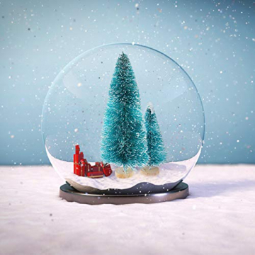 Ulikey 35 Stück Künstlicher Weihnachtsbaum, Mini Grün Tannenbaum Sisal Weihnachtsbaum Modell Bäume Schneetannen Weihnachten Miniatur Deko mit Tannenzapfen für Tischdeko, DIY, Schaufenster - 6