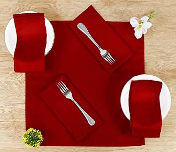 Utopia Kitchen - 12er-Set Stoffservietten, Servietten aus Baumwolle 46 x 46 cm, Rot - 2