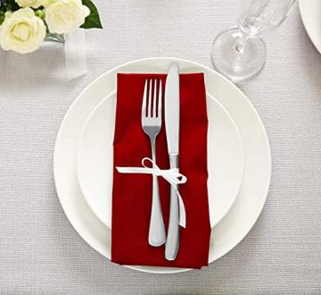 Utopia Kitchen - 12er-Set Stoffservietten, Servietten aus Baumwolle 46 x 46 cm, Rot - 6