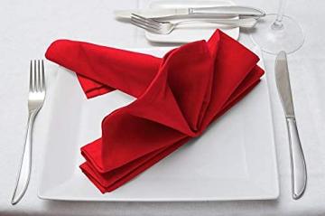 Utopia Kitchen - 12er-Set Stoffservietten, Servietten aus Baumwolle 46 x 46 cm, Rot - 7