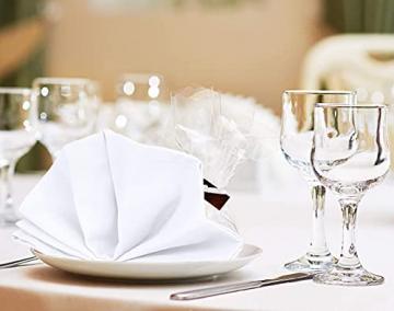 Utopia Kitchen - Dinnerservietten aus Baumwollmischung (12er Pack, 46 x 46 cm) - Weich und bequem - Langlebige Hotelqualität - Ideal für Veranstaltungen und den regelmäßigen Gebrauch zu Hause (Weiß) - 4