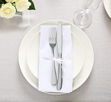 Utopia Kitchen - Dinnerservietten aus Baumwollmischung (12er Pack, 46 x 46 cm) - Weich und bequem - Langlebige Hotelqualität - Ideal für Veranstaltungen und den regelmäßigen Gebrauch zu Hause (Weiß) - 6