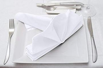 Utopia Kitchen - Dinnerservietten aus Baumwollmischung (12er Pack, 46 x 46 cm) - Weich und bequem - Langlebige Hotelqualität - Ideal für Veranstaltungen und den regelmäßigen Gebrauch zu Hause (Weiß) - 7