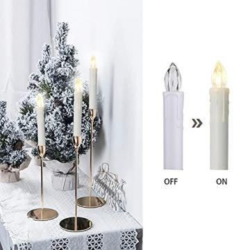 VASEN LED Christbaumkerzen Kabellos mit Fernbedienung Warmweiß Weihnachtsbaumkerzen Flammenlos Weihnachtskerzen 30er - 4