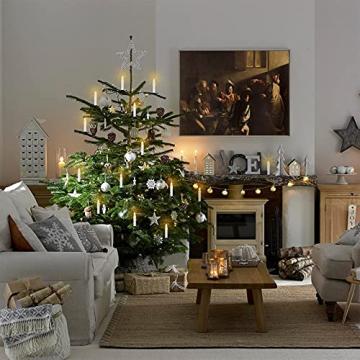 VASEN LED Christbaumkerzen Kabellos mit Fernbedienung Warmweiß Weihnachtsbaumkerzen Flammenlos Weihnachtskerzen 30er - 7
