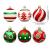 VONDYU Weihnachtskugeln Set,Weihnachtsbaumkugeln Weiß/Rot/Grün,Weihnachtsbaum Christbaumschmuck,30 Pack Glitzernd Christbaumkugeln Weihnachten Deko Anhänger Kunststoff Weihnachtsdeko 6 cm Party Kugeln - 4
