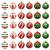 VONDYU Weihnachtskugeln Set,Weihnachtsbaumkugeln Weiß/Rot/Grün,Weihnachtsbaum Christbaumschmuck,30 Pack Glitzernd Christbaumkugeln Weihnachten Deko Anhänger Kunststoff Weihnachtsdeko 6 cm Party Kugeln - 1