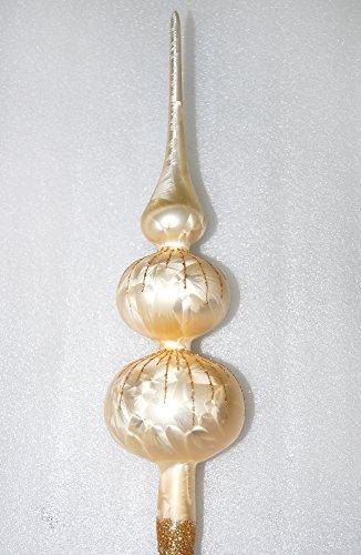 Weihnachtsbaumspitze Groß 35cm in Ice Champagner Gold Regen Baumspitze Spitze Tannenbaumspitze Christbaumspitze Weihnachtsbaum Christbaum Tannenbaum Christmas Tree Top - 1