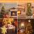 Weihnachtsbaumspitze Stern mit LED Projektion von dynamischen Schneeflocke Lichteffekte, goldene Glitter Christbaumspitze Weihnachtsbaumdeko, Netzteilbetriebene Tannenbaumspitze Weihnachtsbaumschmuck - 4