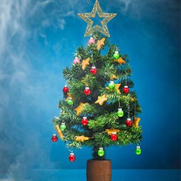Weihnachtsbaumspitze, Weihnachtsbaum Christbaumspitze Stern Glitzer Metall Baum Stern Weihnachtsbaum Stern Topper Weihnachtsbaumspitze Glitzernder, Beleuchtete Sterne, Weihnachtsbaumspitze Dekoration - 6