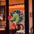 Weihnachtsgirlande, Türkranz Herbst,Weihnachtsdieb Stahl Weihnachts-Sackleinen-Kranz, Adventskranz,Wie der Grinch Weihnachts-Sackleinen-Kranz Stahl, für Wohnzimmer Wandfenster (B-16 Zoll) - 4